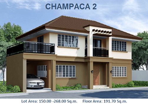 CHAMPACA 2 : Php8,784,098.40 Floor Area:192 sqm Lot Area: 175 sqm HOUSE FEATURES: 2 Storey, Single Detached 4 Bedrooms 3 Toilets & Bath Fitted Kitchen Maid's Quarter w T&B Carport