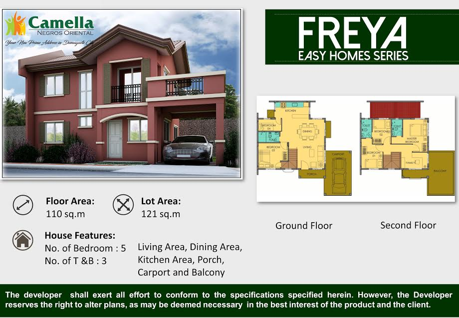 Camella homes dumaguete house for sale freya model cebu for Camella homes design with floor plan