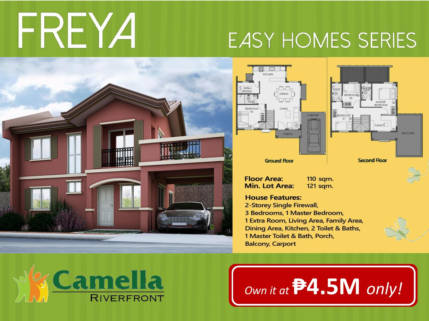 Floor Plan With Garage Camella Homes Talamban Riverfront Freya Model Cebu Dream