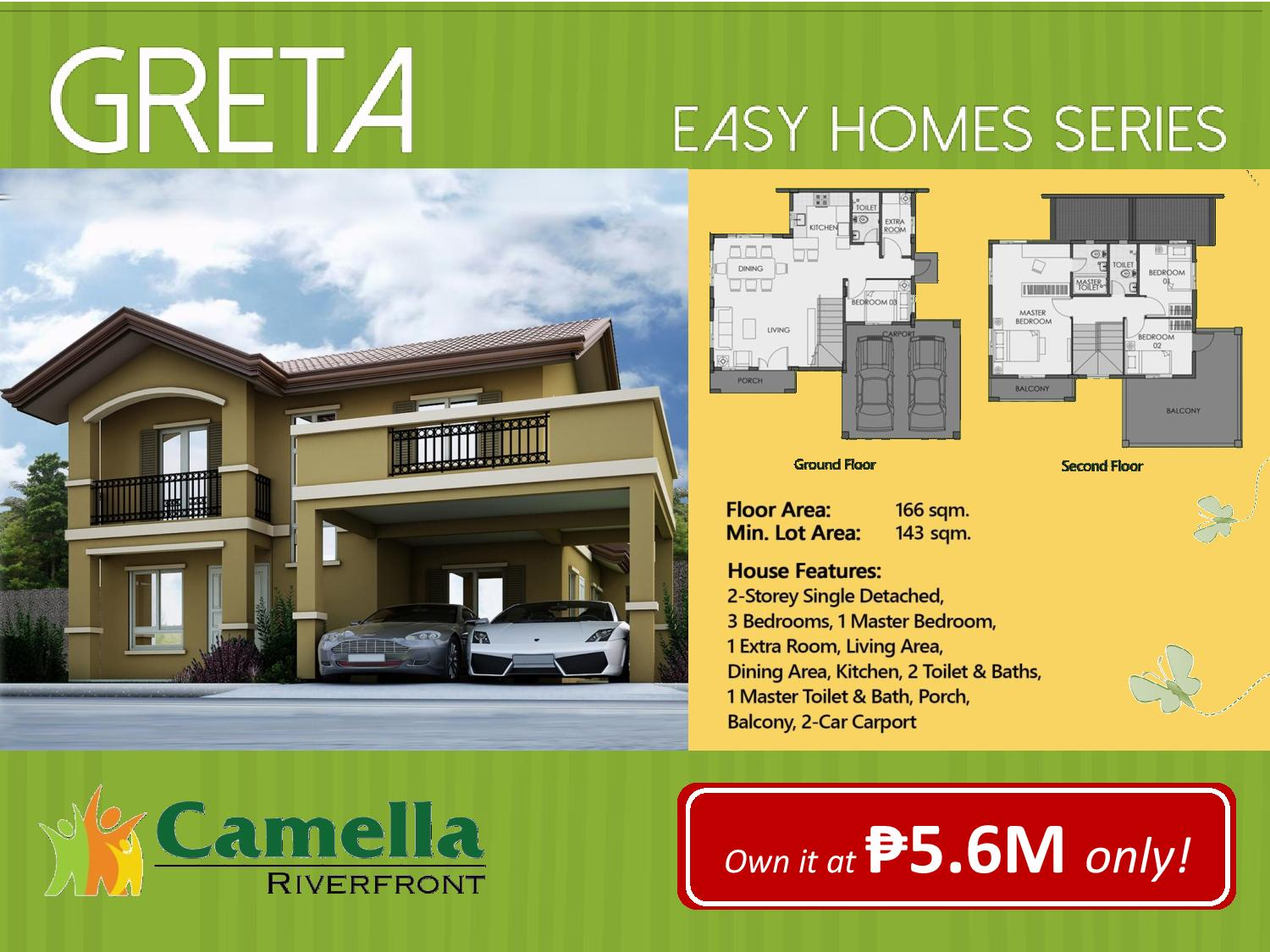 For sale affordable house and lot for sale in camella for Home models and prices