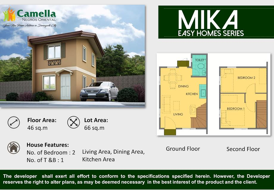 Camella Homes Floor Plan Philippines 2bedrooms House For Sale Single Attached Camella Homes